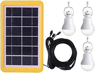Uonlytech lámpara de iluminación de emergencia kit de panel fotovoltaico bombilla de energía solar para acampar al aire libre en casa