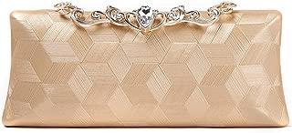 TWTAI Women's Fashion Diamond Banquet Clutch Bag Crossbody Shoulder Bag Wedding Party Evening Bag Black/Gold/Silver (Color : Gold)