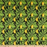 Telio 0674044 Bloom Stretch Cotton Sateen Mango Print Black