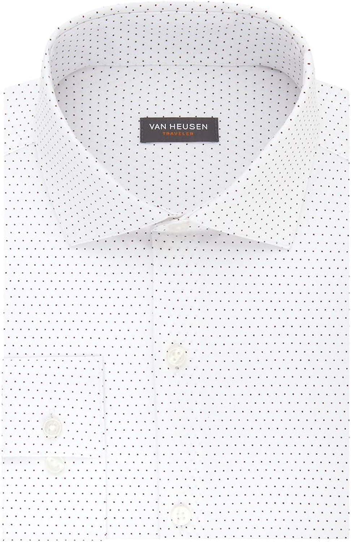 Van Heusen Men's Traveler Slim-Fit 4-Way Stretch No-Iron Dress Shirt