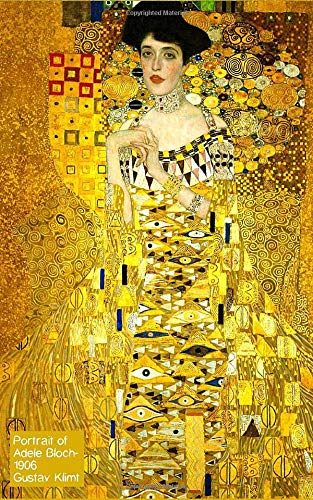 Portrait of Adele Bloch, 1906 - Gustav Klimt: Art Notebook, Journal, Paper notebook, Composition book, Artist Gift, Art Lover - 120 Lined / Ruled Pages - 5x8 inches (12.7.24 x 20.32 cm)