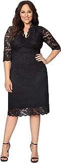 Kiyonna Women's Scalloped Boudoir Lace Dress