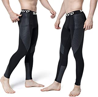 Sieayd Men's Compression Pants 2 Pack Base Layer Cool Dry Running Tights Workout Leggings