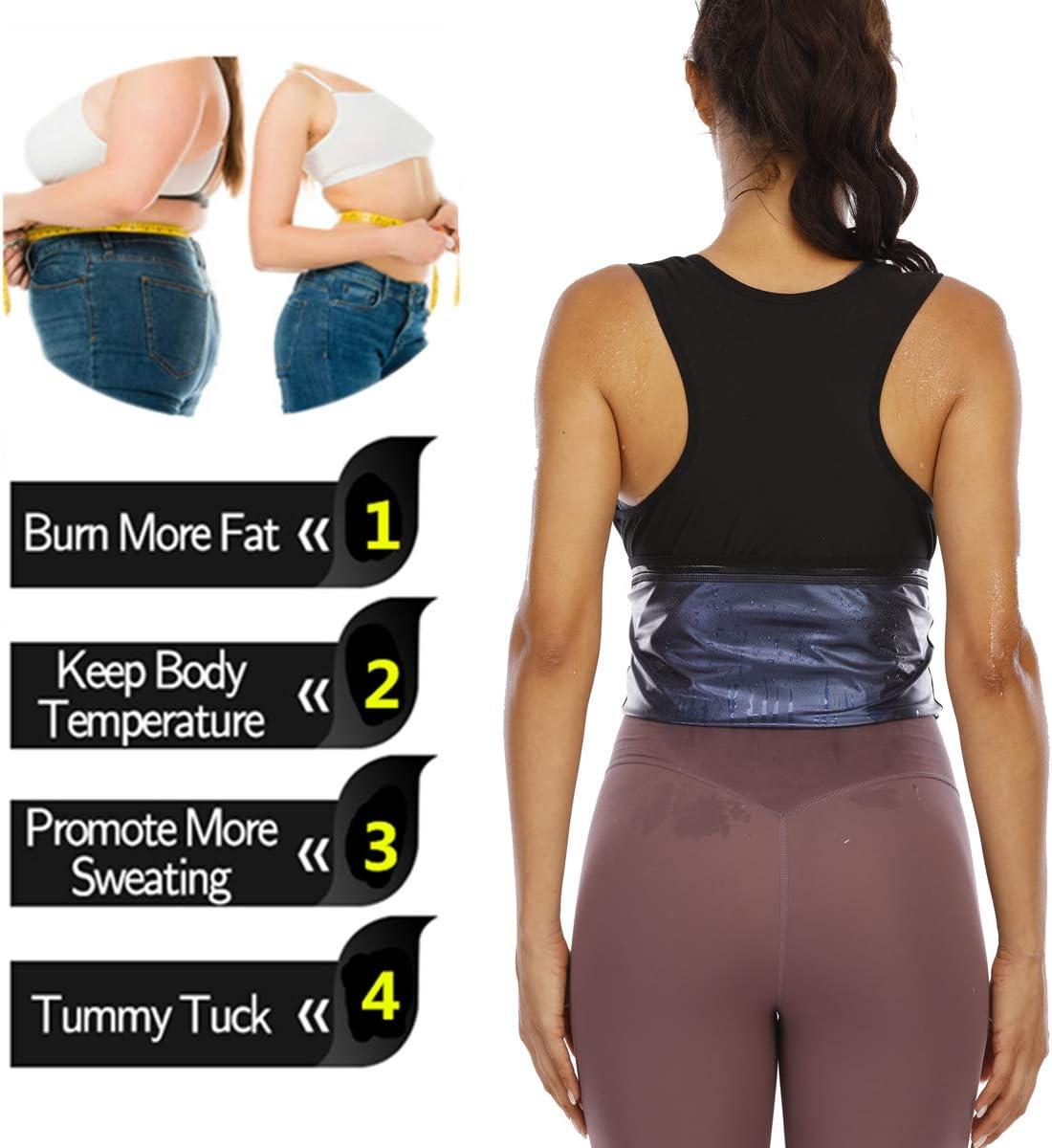 Sauna Sweat Vest for Women Waist Trainer Vest for Women Sweat Tank Top Shaper for Women with Zipper