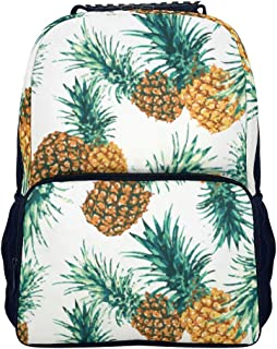 BTJC88 Mini mochila para niñas y niños estilo de pineapple informal retro resistente para libros estilo impreso par...