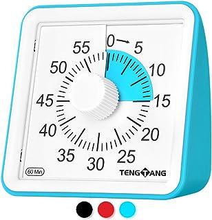 Visual Timer 60-minute,Time Timer Original 12 inch,Time Timer MOD,kitchen timer,countdown timer,No Loud Ticking (Blue)