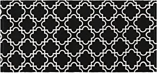 Sungea Cotton Area Rug, Geometric Design Modern Contemporary Indoor/Outdoor Fashionable and Affordable Woven Rugs, Great for Patio, Deck, Backyard, Picnic, Beach, Camping(2x4 ft,Black)