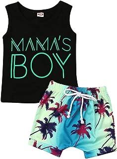 Nokpsedcb Newborn Kids Clothing Baby Boys Cute Letter Printing T-Shirt Top+Short Pants Trousers 2Pcs Outfits Clothes Set