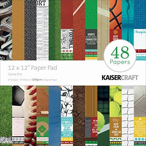 Kaisercraft PP220 Spiel auf Papier Block (48 Stück), 30,5 x 30,5 cm