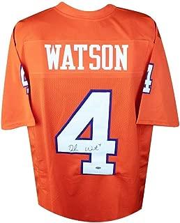 Deshaun Watson Autographed Clemson Tigers Custom Football Jersey - Leaf COA