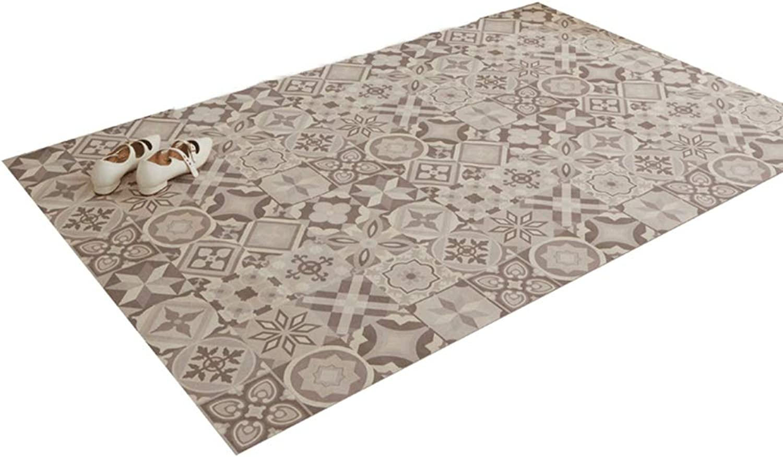 JIAJUAN Entrance Doormat Indoor Low-Profile Waterproof Cuttable Non-Slip Floor Mat Home, 2 Mm, 2 Styles, 3 Sizes (color   A, Size   105x120cm)