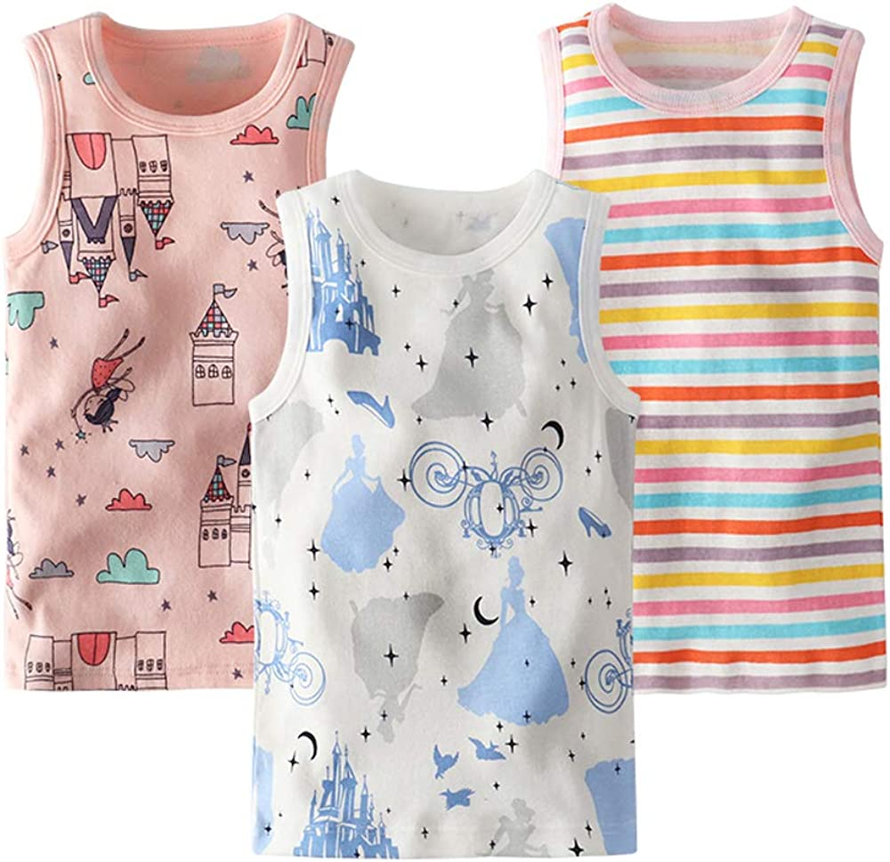 Huaer) Toddler Boys' 2-3 Pack Tank Tops (Color Stripes, 5T)