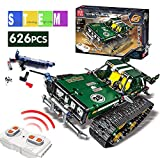 Mould King Remote Control Building Blocks Car,RC Tracked Racer Building Blocks high Speed Cars, Learning, Toys for Kids Age 8, 9, 12, 13 and 14 Year Old Boy Gift Ideas(Green)