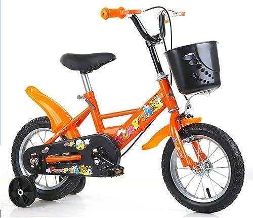 más vendido GAIQIN Durable Bicicleta para Niños Bicicleta Bicicleta Bicicleta 2-4-5-7-8-10 años de Edad Freno de Mano de Niño y niña, Control de Seguridad (con Cesta) (Color   naranja, Tamaño   14inch)  precios razonables