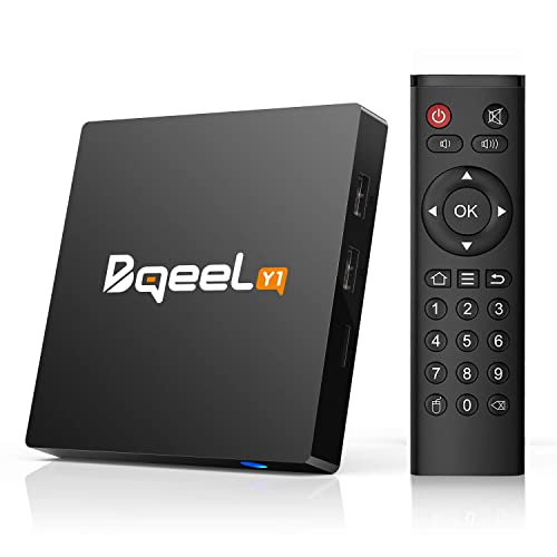 Bqeel Y1 Android 7.1 TV Box 4K Android Box S905W Quad Core 1GB RAM/8GB ROM Smart TV Box With H.265/Ultra HD 4k2k Output/100M Ethernet