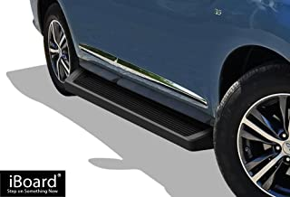 APS iBoard Running Boards (Nerf Bars Side Steps Step Bars) Compatible with 2013-2020 Nissan Pathfinder (Exclude 15 Platinum Model) & 2013-2017 Infiniti QX60 (Black Powder Coated Running Board Style)