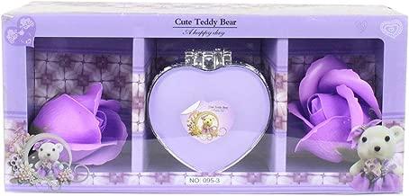StatueStudio Purple Roses with Cute Teddy Bear Doll Box Best Valentine Day Gift, Birthday Gift for Boyfreind Girlfreind Year Return Gift
