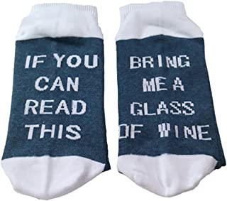 OMONSIM Unisex Cotton Socks If You Can Read This Bring Me A Beer Socks (Blue1)