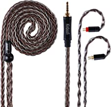 8 Core Silver Plated Copper & High Purity Copper Hybrid Braided in Ear Earphone Cable for AS10 AS06 ZS10 ZSR ZST TRN V80 IM1(2 Pin, 2.5mm Plug)