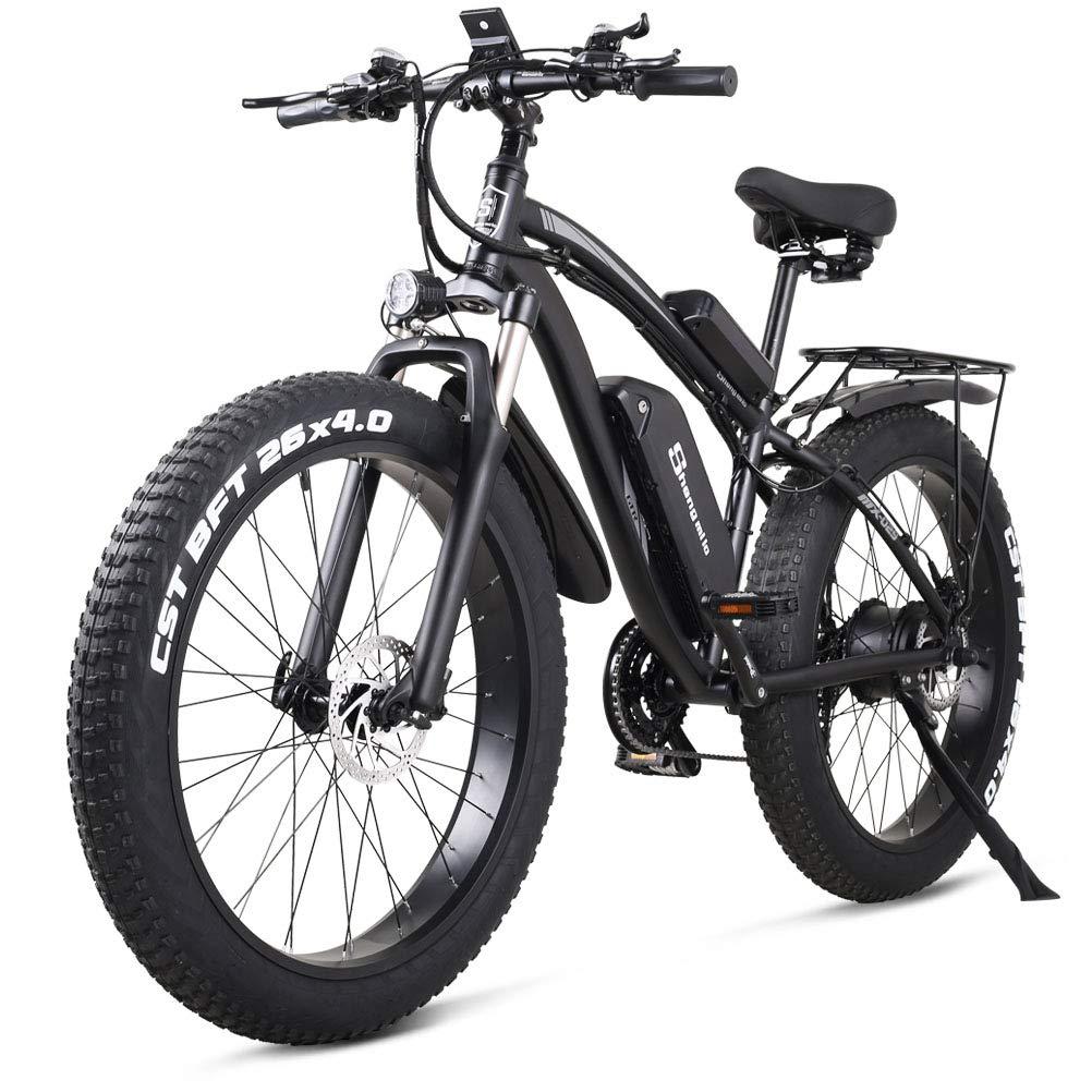 Bicicletas Electricas Bicicleta Montaña Electrica e Bike Moto Adulto Hombre Frenos Disco Hidráulicos 1000W 26 Pulgadas* 4.0 Fat Neumático Shimano 21 Velocidad (Negro): Amazon.es: Deportes y aire libre