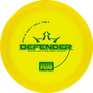 Dynamic Discs Lucid Air Defender Disc Golf Driver | Frisbee Golf Maximum Distance Driver | Overstable Golf Disc | Stamp Color Will Vary