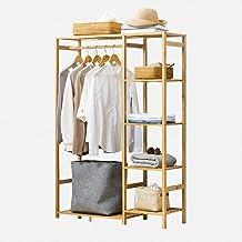 Kledingrek Hangerhouder Hanger Type kast Type kast Vier lagen Multifunctioneel Bamboe beige binnenkant (Kleur: Beige, Afme...