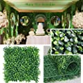 """· Petgrow · Realistic & Thick Artificial Hedge Boxwood Fence Privacy Screen Panels 20""""x20"""", UV Protection Fresh Faux Foliage Backdrop Wall Decor for Indoor Outdoor"""