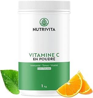 Vitamine C Poudre 1kg | 100% Acide L-Ascorbique Pur | Poudre Ultra Fine Mesh 100 | Immunité & Vitalité | Cuillère doseuse ...