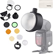 Godox Flash Diffuser Light Softbox Speedlite Flash Accessories Kit S-R1 & AK-R1 with Universal Mount Adpater for Canon, for Nikon, for Sony Speedlight and YONGNUO Speedlite