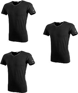 Enrico Coveri 3 t-Shirt Uomo Mezza Manica Scollo a V Cotone bielatico Art ET1001