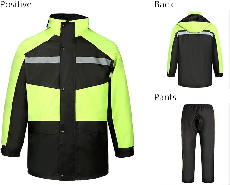 FCXBQ Cyclisme imperm/éable Veste de v/élo imperm/éable Pantalon de Pluie Costume Hommes et Femmes Moto /équitation Adulte randonn/ée r/éfl/échissant v/êtements imperm/éables