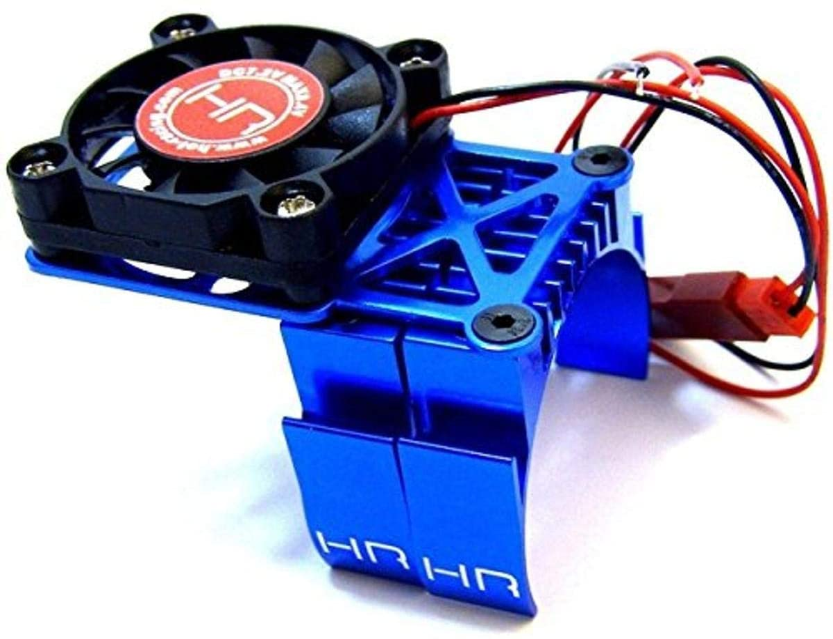 Nitro Hobbies Motor Heat Sink w// Twin Cooling Fan Black Granite 4X4