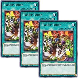 Yu-Gi-Oh! y3 Piece setz English Version CIBR-EN 065 Backup Squad replenishing Unit (Rare) 1st Edition