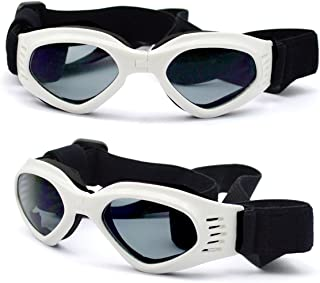 ENJOYING Pet Dog Sunglasses - Protective Eyewear Goggles Small Waterproof Protection (White)