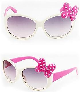 WANGQ - WANGQ Gafas de sol, gafas de sol para niños, gafas de sol bonitas, vasos de cartón animados para niños, gafas de sol con lazo