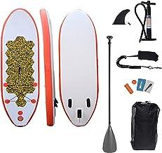 Volwassen Opblaasbare Paddle Board, Anti Air Lekkend Ontwerp met Paddleboard Accessoires, Drie Vinnen, Verstelbare Paddle,...