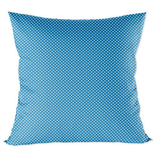 funda cojin 40x40 - funda almohada bebe de algodón fundas de cojines decorativos para niños cojin infantil Azul