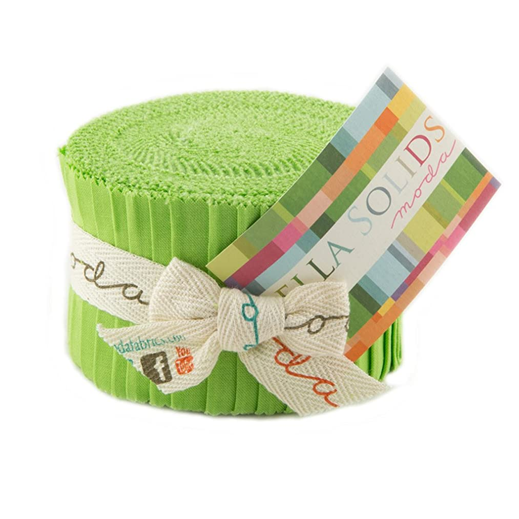 Bella Solids Lime Jr Jelly Roll (9900JJR 75) by Moda House Designer for Moda