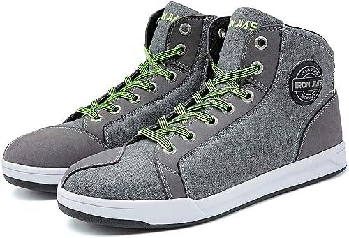 IRON JIA'S Moto Chaussures Hommes Accessoires décontractés Équipement de Protection Respirant Sport Chaussures antidé...