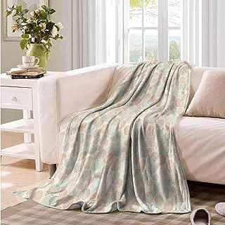Oncegod Comfort Blanket Camel Color Ornate Seashells Mosaic Bedding Throw, or Blanket Sheet 60