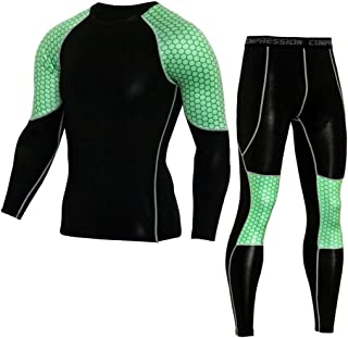 1174bcfe21b Men s Elastic Casual Fitness T-Shirt Fast Drying Tops Pants Sports Tight  Suit