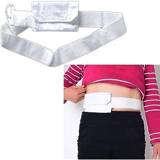 Feeding Tube Belt G Tubes Catheter Holder Peritoneal Dialysis Gastrostomy Peg Tube Supplies Cover Bag Drainage Abdominal Fixation Medical Nursing Belt For Patients (White)