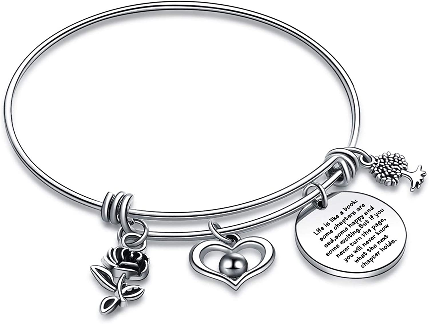 Book Bracelet Writer Gifts Book Lover Bangle Author Gift Reader Jewelry Librarian Bracelet