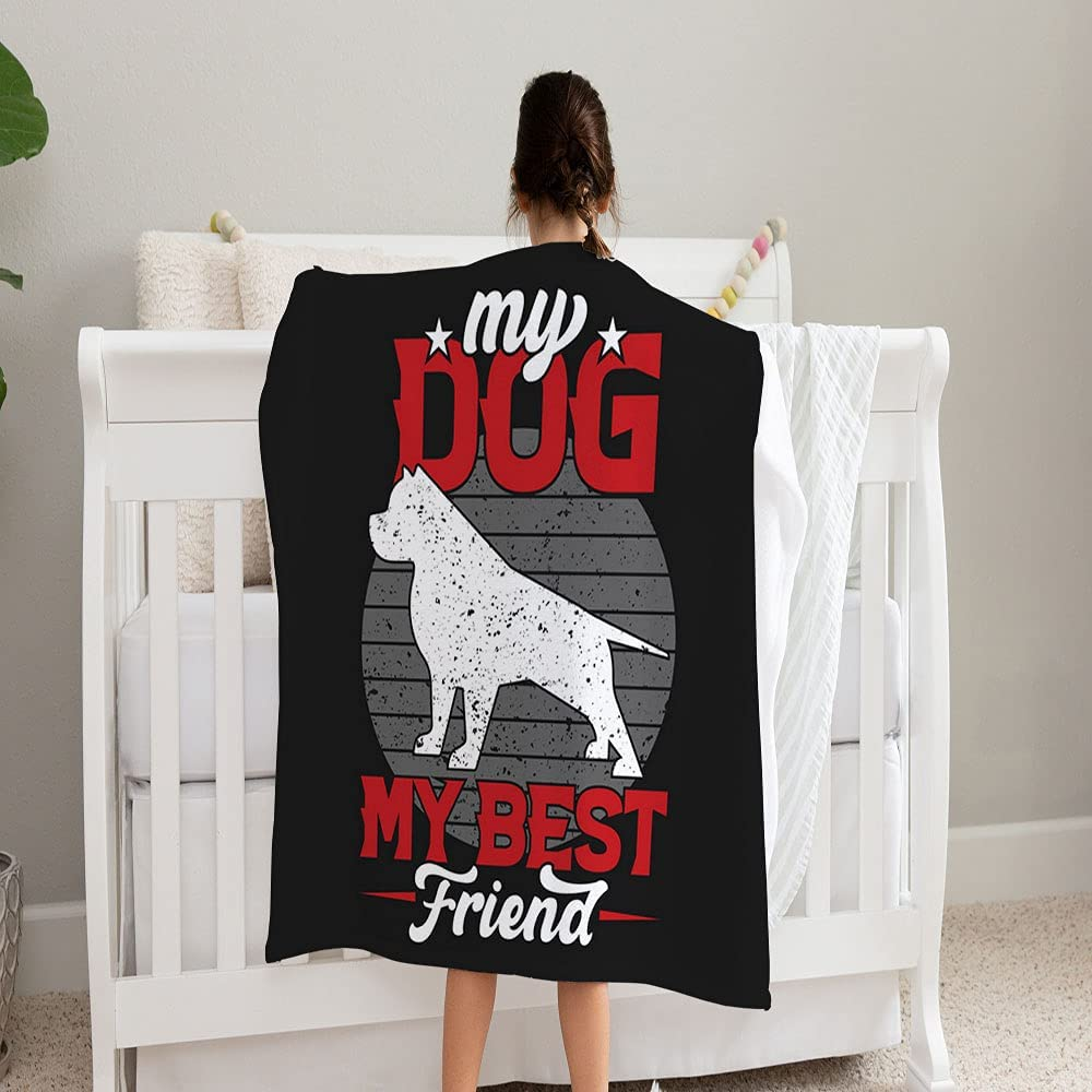 GANTEE Dog Saying My Best Friend Excellence Cozy Fleece Soft and Super Super beauty product restock quality top! Blan