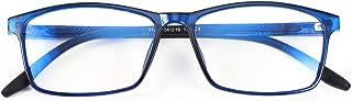FEISEDY Square Men TR90 Frame Blue Light Blocking Reading Glasses, TR90 Rectangle Men Anti Blue Light Computer Reader B9026