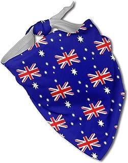 SDBUYW-ZQ Australia Flag Dog Bandanas Washable and Reversible Triangle Cotton Dog Bibs Scarf