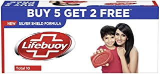 Lifebuoy Total 10 Soap, 125 g (Pack of 7) with (Buy 5 Get 2 Free)