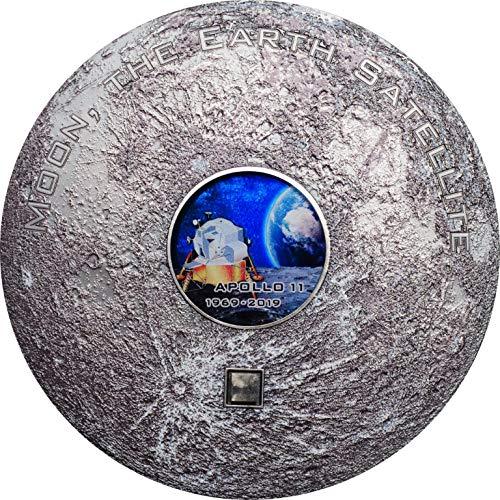 Apollo 11 Luna Asteroide Meteorites 3 Oz Moneda Plata 20$ Cook Islands 2019