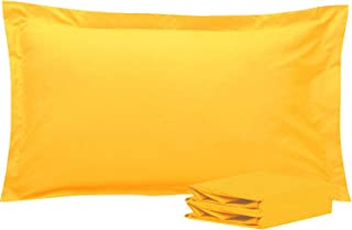 NTBAY King Pillow Shams, Set of 2, 100% Brushed Microfiber, Soft and Cozy, Wrinkle, Fade, Stain Resistant (Yellow, King)