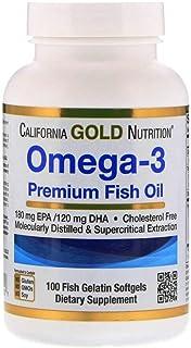 California Gold Nutrition, オメガ-3、プレミアムフィッシュオイル、魚ゼラチンソフトジェル100錠 2コ組 [並行輸入品]